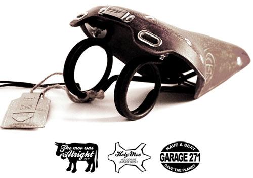 Sadeln i koskinn, Holy Moo, från tyska cykeltillverkaren Garage 271 är alldeles strax på gång ut på marknaden.