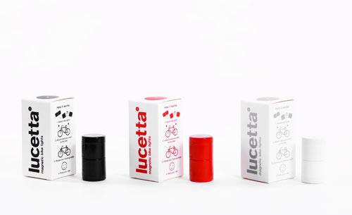 Lucetta är ett magnetiskt cykellyse från italienske designern Emanuele Pizzolorusso