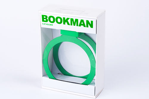 Bookman Cup Holder är en mugghållare som enkelt monteras på cykelstyret.