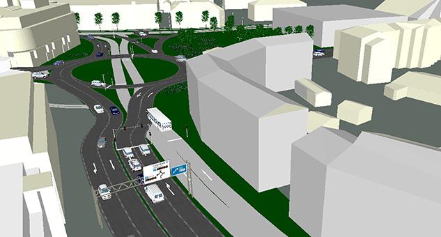 Jönköpings kommun drar i mars 2014 igång bygget av en ny bussgata. Men var finns prioritet för cyklister, och varför håller man sig inte till sanningen?