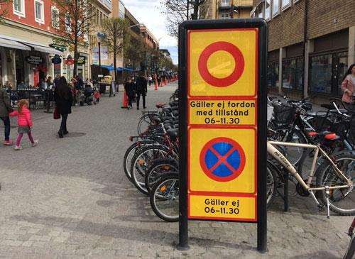 Förbud mot infart med fordon