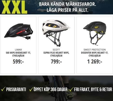 Cykelhjälmar från XXL